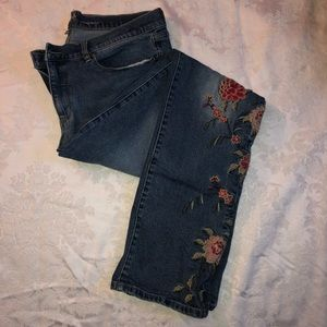 New York and Company Floral Jeans 🌺